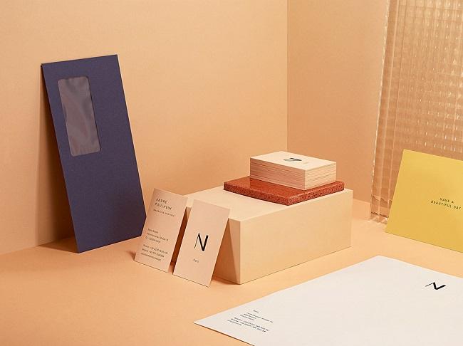 Bộ nhận diện tao nhã của thương hiệu thiết kế sản phẩm Noto