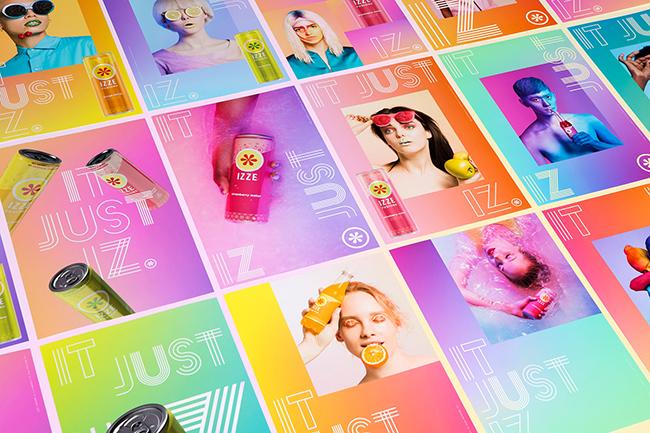 Cảm hứng từ bộ thiết kế quảng cáo linh hoạt của IZZE