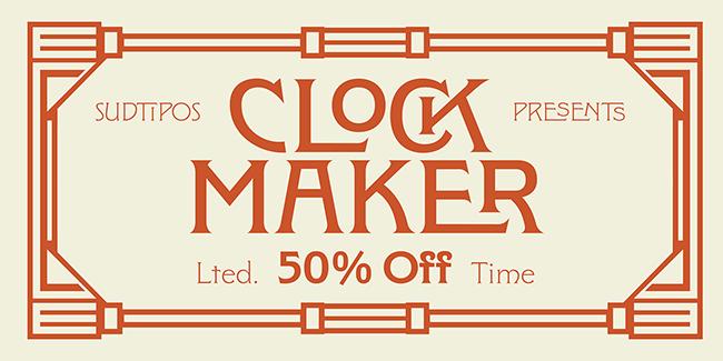 Giới thiệu bộ chữ Clockmaker cổ điển