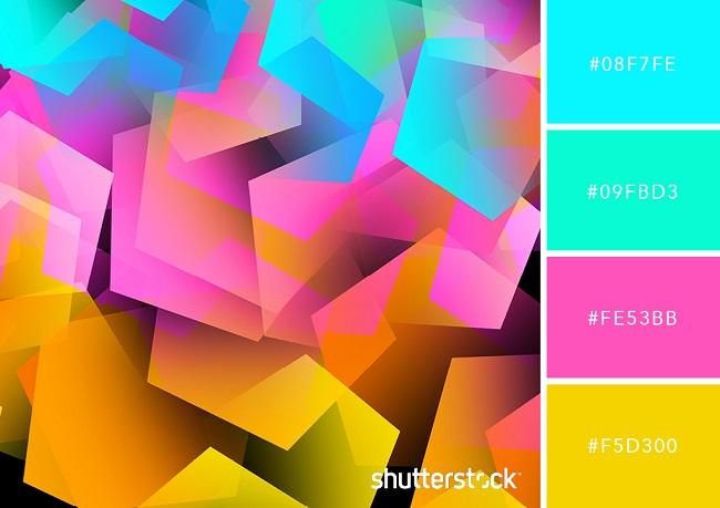 Màu Neon - Xu hướng thiết kế đến từ tương lai