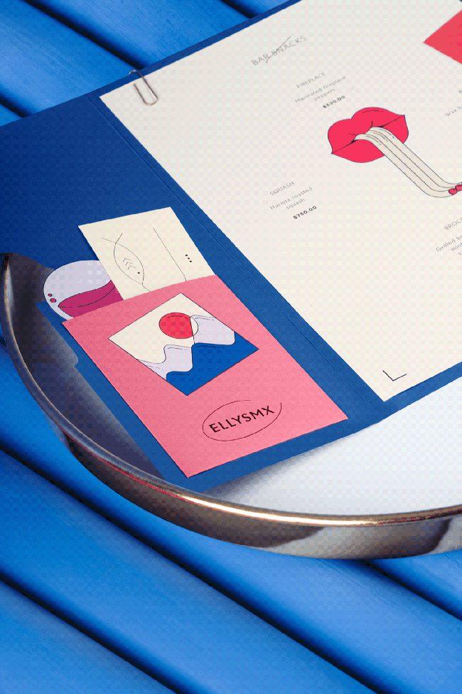 Bộ nhận dạng thương hiệu vui nhộn và trừu tượng của nhà hàng Elly's
