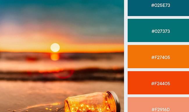 Gợi ý bảng màu dành cho thiết kế truyền thông mùa hè