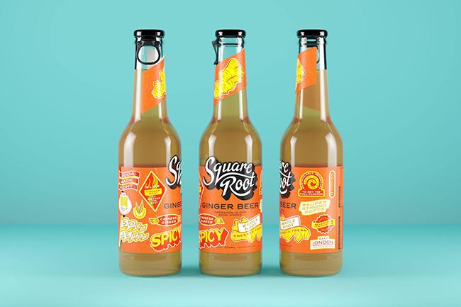 Mẫu thiết kế bao bì Soda Square Root có gì khác biệt?
