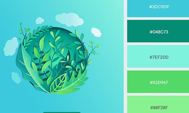 Màu sắc phù hợp thiết kế thương hiệu thân thiện môi trường