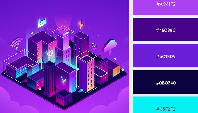 Gợi ý bảng màu phù hợp dự án thiết kế thương hiệu công nghệ