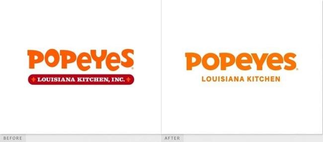 Bộ nhận diện mới của Popeyes ra sao?