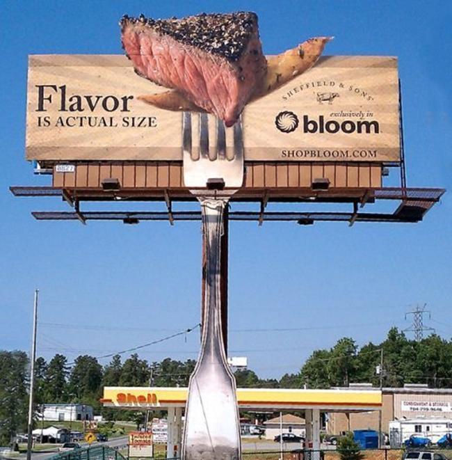 Ấn tượng với thiết kế quảng cáo ngoài trời có mùi thịt nướng