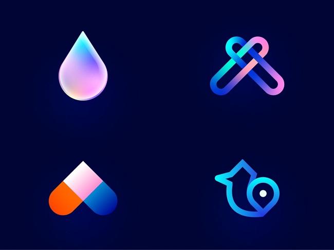 Bật mí ý tưởng thiết kế logo Gradient và màu Neon