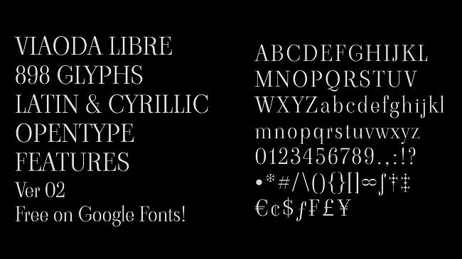 Giới thiệu bộ font chữ Viaoda Libre
