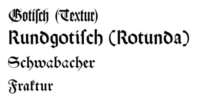 Tìm hiểu nguồn gốc kiểu chữ Fraktur và Antiqua