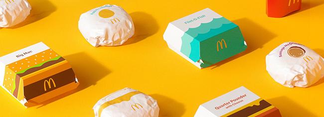 Mẫu thiết kế bao bì mới toàn cầu của Mcdonald's