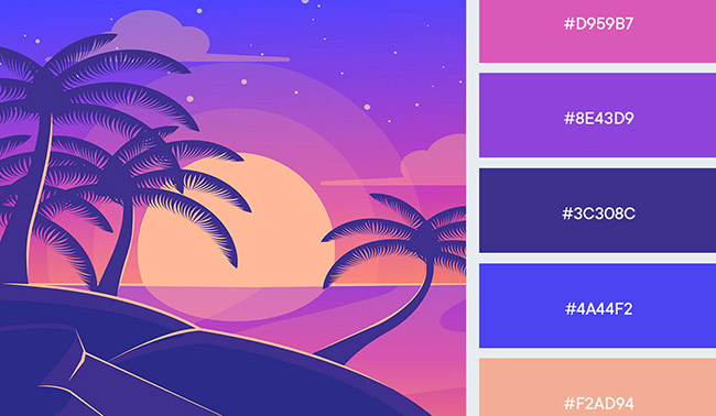 Gợi ý bảng màu ấn tượng cho thiết kế quảng cáo mùa hè