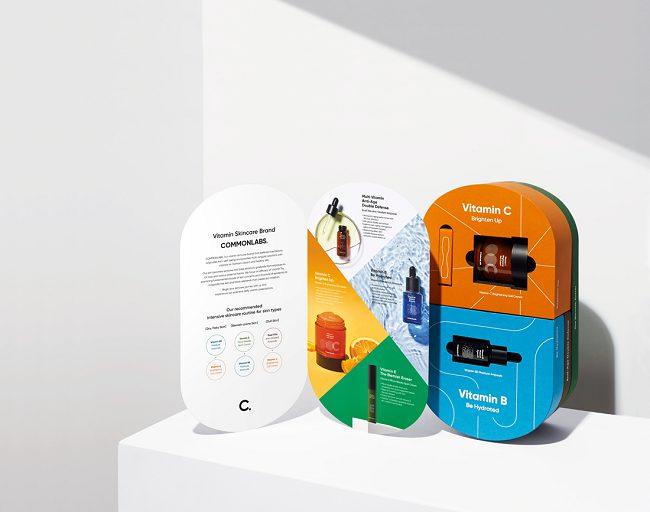 Mẫu thiết kế bao bì vỏ hộp vitamin lạ mắt của COMMONLABS
