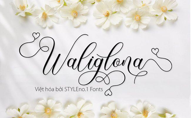 Phông chữ SVN Waliglona cho thiết kế bao bì thanh lịch