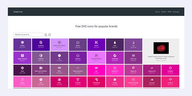 Giới thiệu những thư viện icon SVG miễn phí tốt nhất