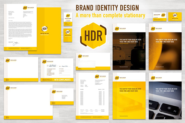 Màu vàng trong thiết kế hình ảnh thương hiệu