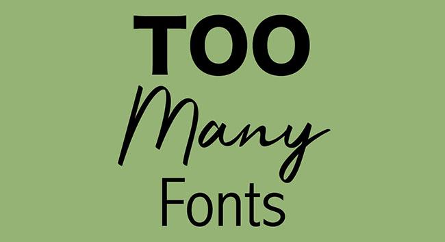 Những lỗi cần tránh khi chèn văn bản vào thiết kế thương hiệu